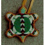 "Round Fully Beaded ""Turtle"" Amulet Medium"